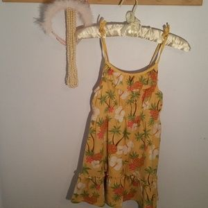 Gymboree Size 6 Yellow Tropical Fruit Sun Dress